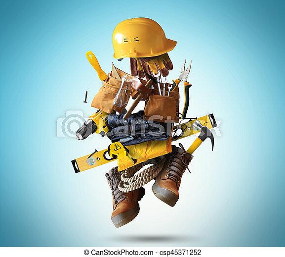 costruzione, attrezzi - csp45371252