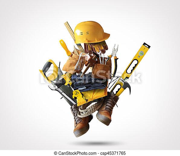 costruzione, attrezzi - csp45371765