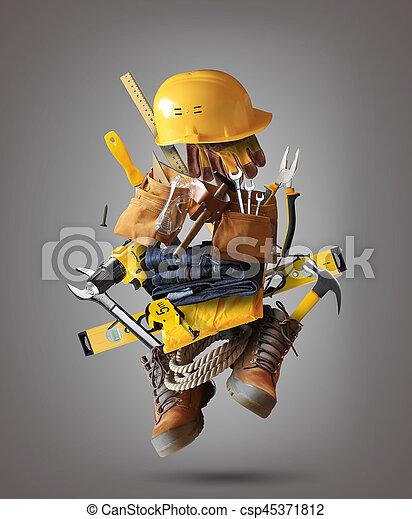costruzione, attrezzi - csp45371812