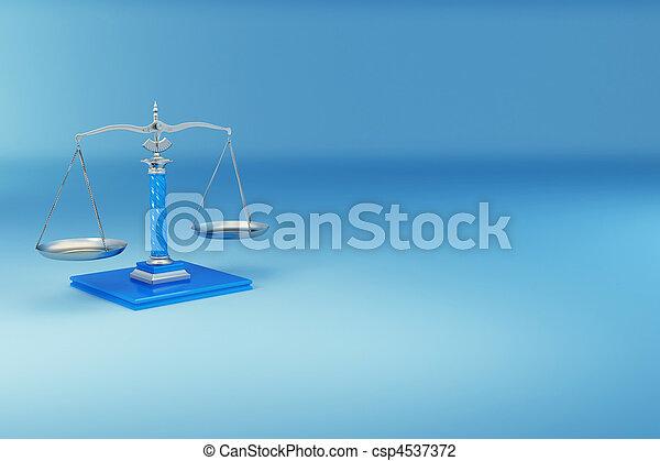 justiça, scale., símbolo - csp4537372