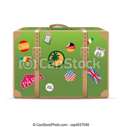 Vintage travel suitcase - csp4537549