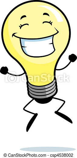 Light Bulb Jumping - csp4538002