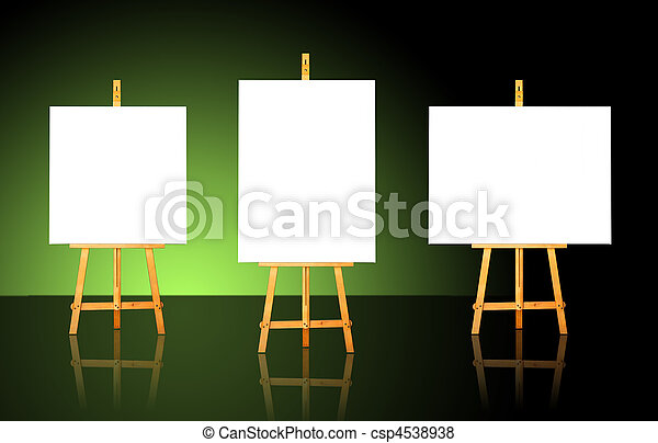 Three Easels - csp4538938