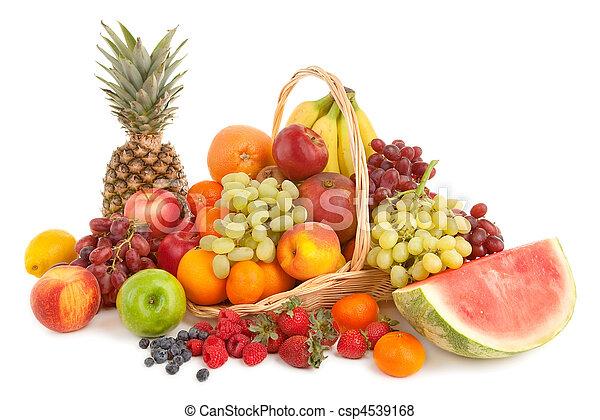 frutas, arranjo - csp4539168