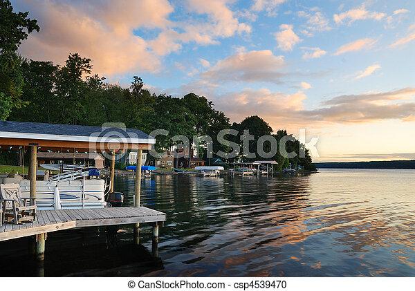 Lake house sunrise - csp4539470