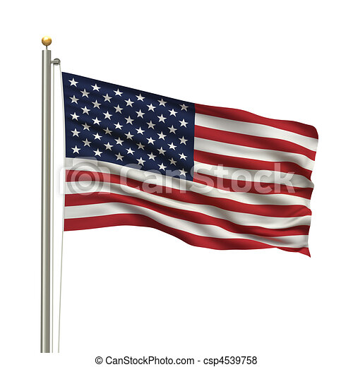 Flag of the USA - csp4539758