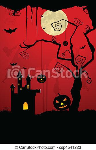 scary halloween night - csp4541223