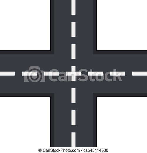 Crossing road icon, flat style - csp45414538