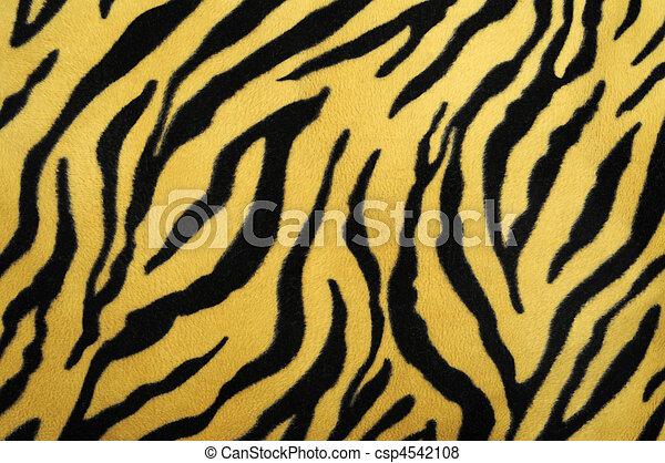 pattern of a tiger skin, excellent wildlife background - csp4542108