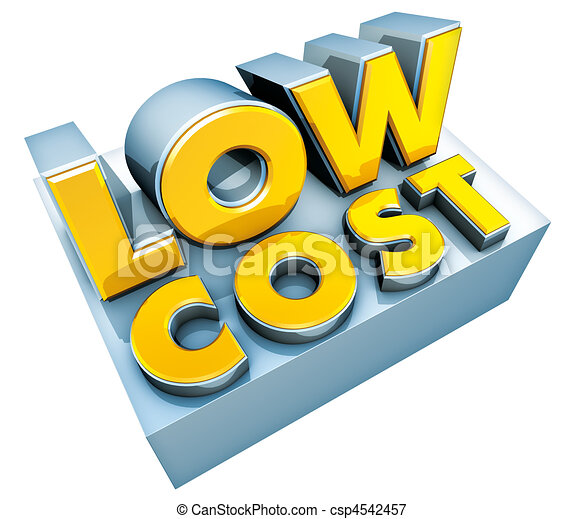 low cost logo - csp4542457