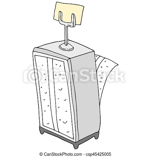 retro napkin holder reservation card holder - csp45425005