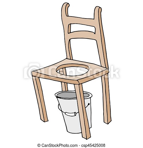 wooden chair retro commode drawing - csp45425008