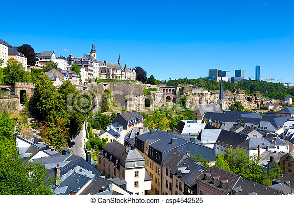 Old and Modern Luxembourg - csp4542525