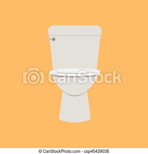 Vector   flush toilet vector. Vectors of flush toilet vector csp45429038   Search Clip Art