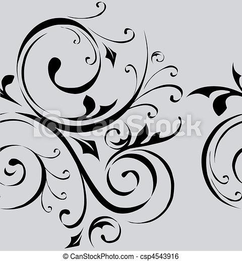 Clip art vektor von muster vektor seamless tapete for Tapete grau mit muster