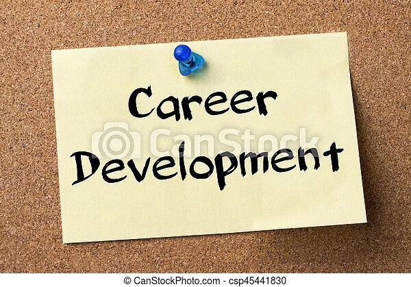 Career Development - adhesive label pinned on bulletin board - horizontal image