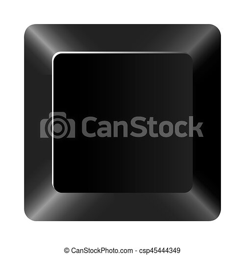 black button of computer keyboard - csp45444349