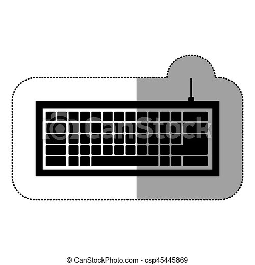 black computer keyboard icon - csp45445869