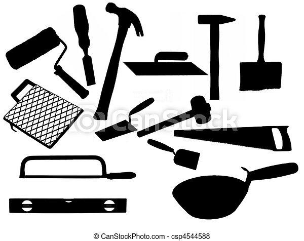 herramientas de la albañilería - csp4544588