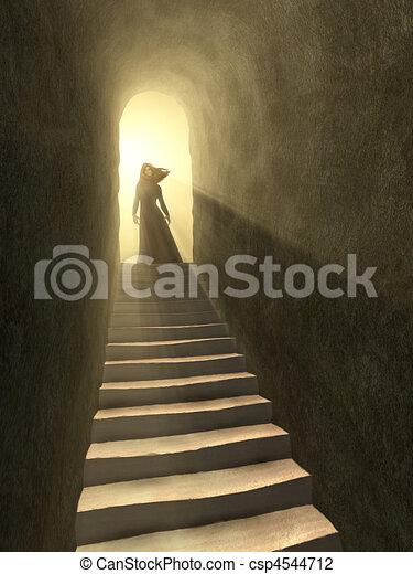 Tunnel to light - csp4544712