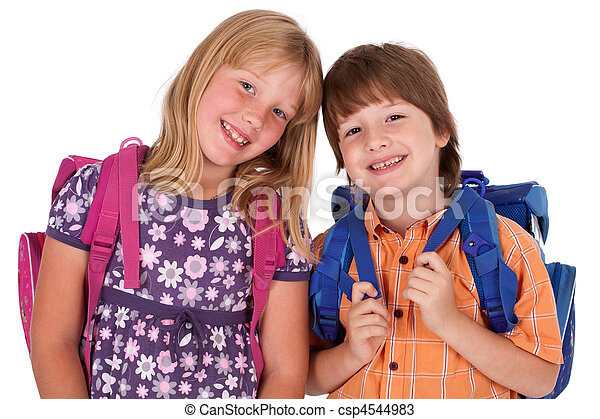 kids posing for back to school - csp4544983