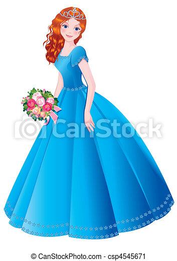 clip art girl in blue dress