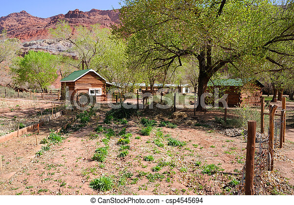 Pioneer Garden at Lonely Dell Ranch - csp4545694