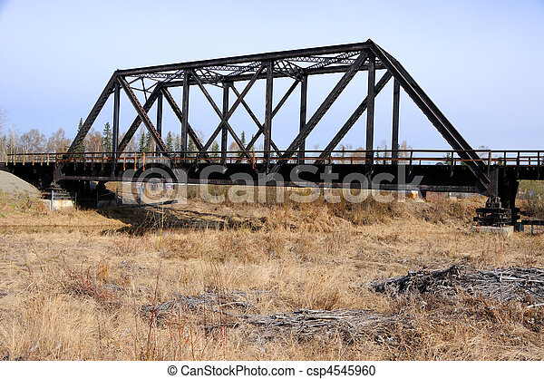 Railroad Bridge in Early Spring - csp4545960