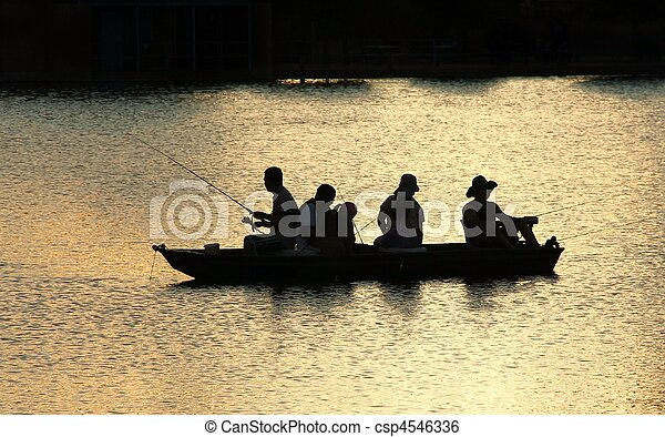 Fishing on the lake - csp4546336