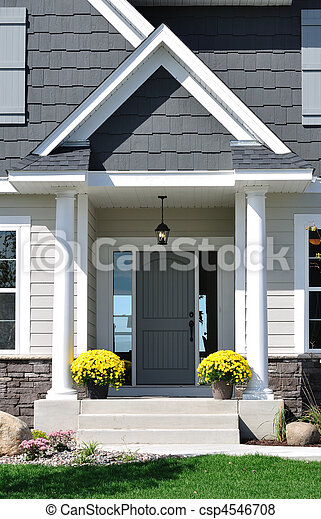 Front Entrance of a Residential Home - csp4546708