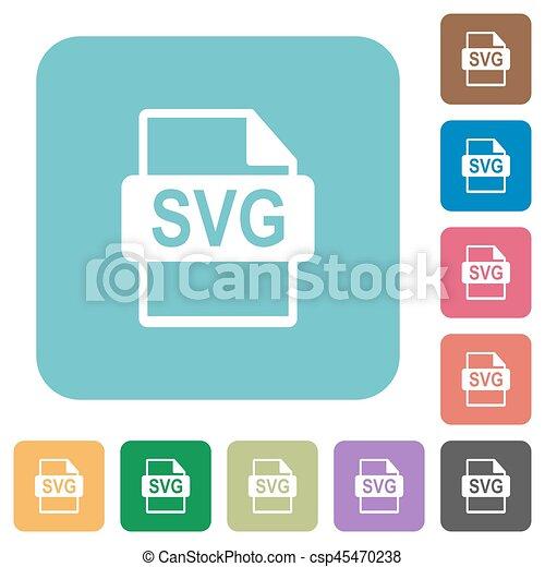 plat, plein, Afgerond, iconen,  svg, Formaat, bestand - csp45470238