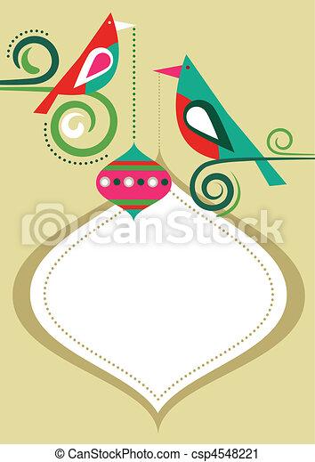 Christmas birds frame - csp4548221