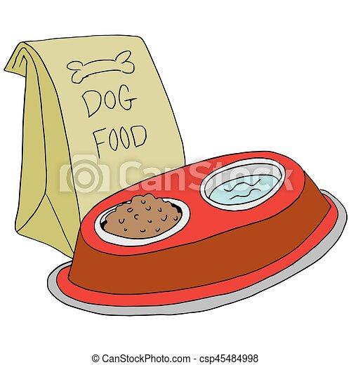 dog food feeding station - csp45484998
