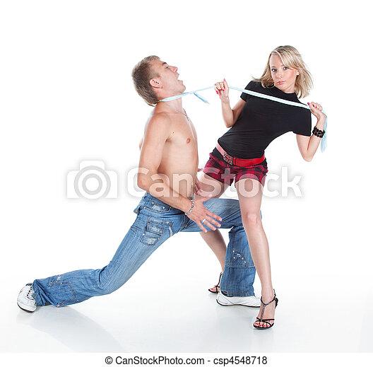 Girl seduces a guy - csp4548718