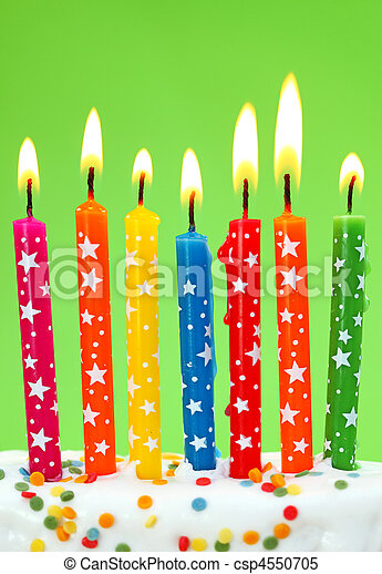Colorful birthday candles - csp4550705