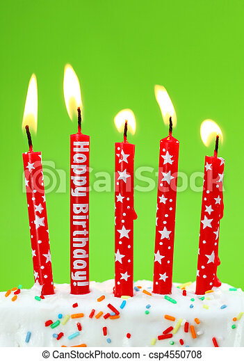 Colorful birthday candles - csp4550708