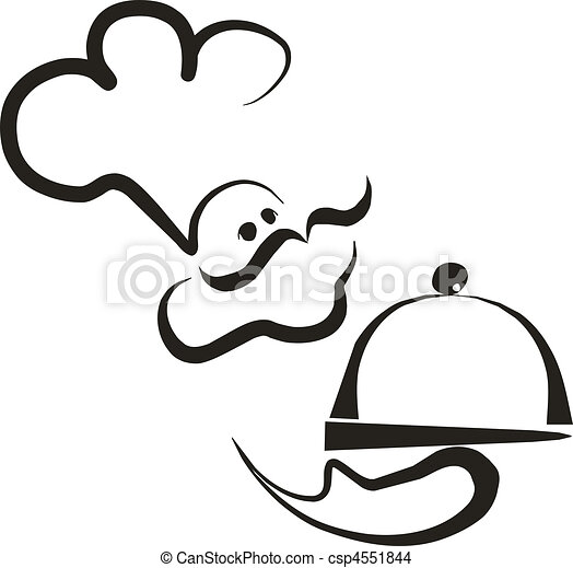 Vecteur eps de chef cuisinier 02 vecteur cuisinier - Chef cuisinier dessin ...