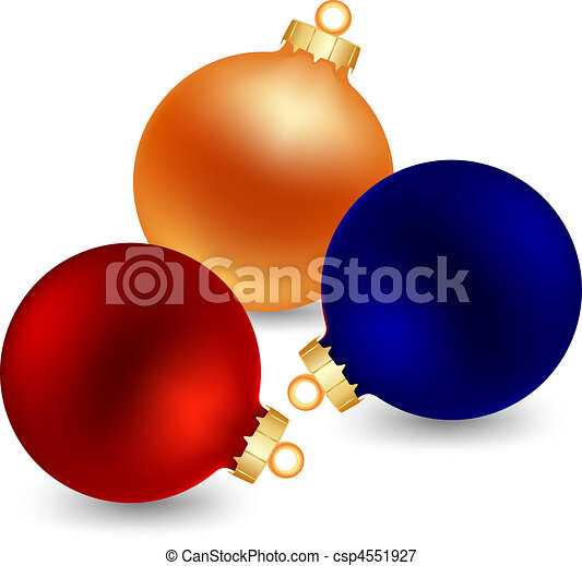 three color christmas ball - csp4551927