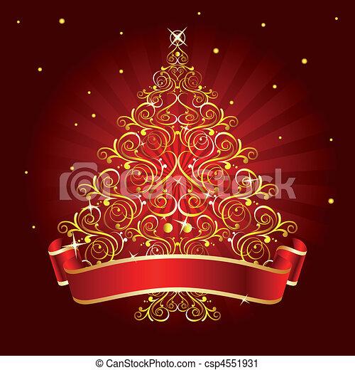 christmas tree red - csp4551931