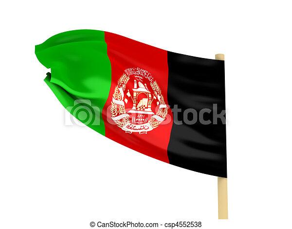 Afeganistão, bandeira - csp4552538
