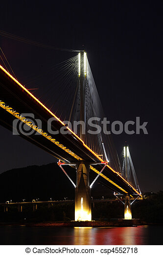 Ting Kau Bridge in Hong Kong - csp4552718