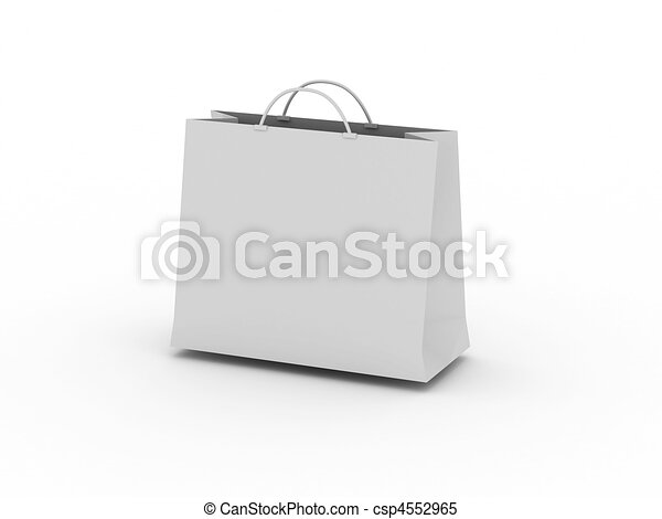 White shopping bag - csp4552965