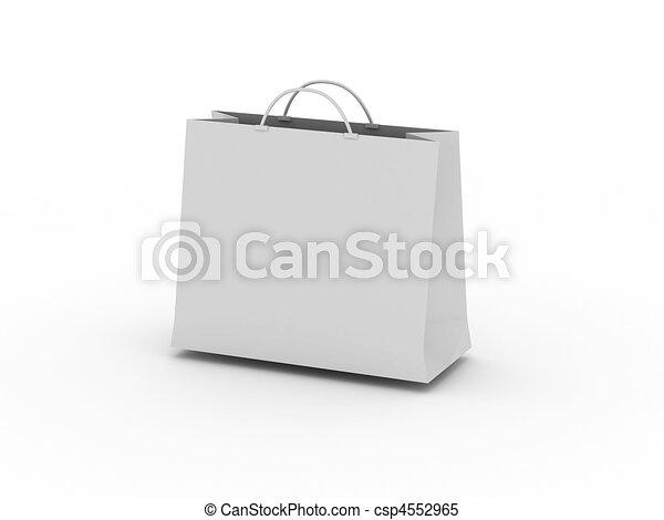 White shopping bag - csp4552965