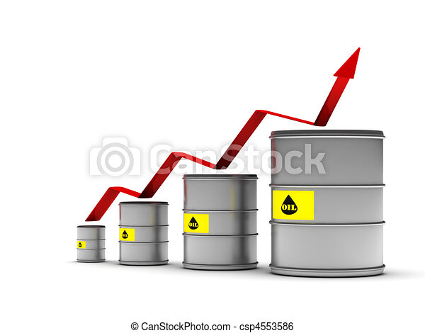 Increasing price of oil - csp4553586