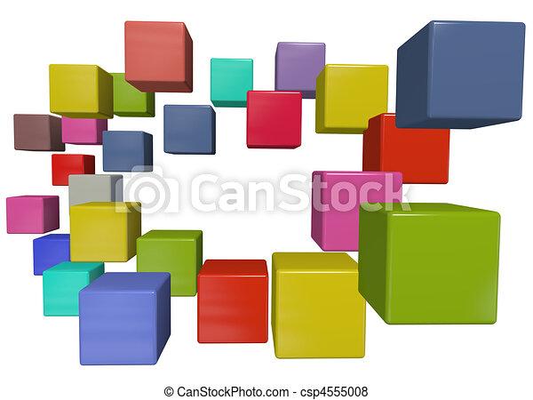 Clipart Data Cube Data Cubes Csp4555008