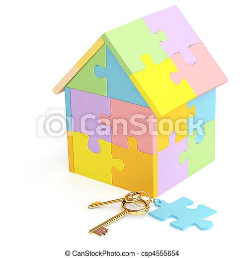 3d house - csp4555654