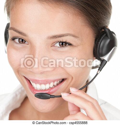 Telemarketing woman - csp4555888