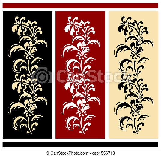 floral borders - csp4556713