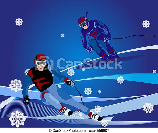 ski-cross illustration - csp4556907