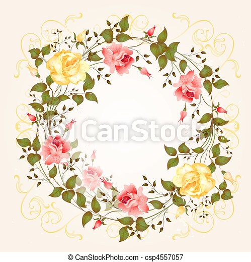 background with roses - csp4557057